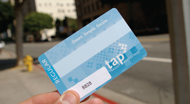 image of a blue tap card