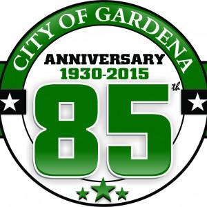 City of Gardena 85th Anniversary logo