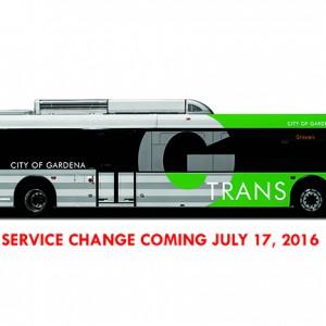 GTrans service change bus image
